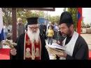 """Освещаване знамената на бъдещия православен българо-руски храм """"Св. Иван Рилски"""""""