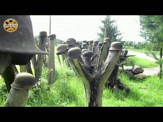 Коп по Войне/Антуражный показ немецких касок ВОВ во дворе у фермера.