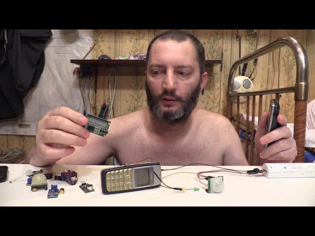 Самая простая сигнализация для дома, дачи, гаража - своими руками Лайфхак GSM alarm HC-...