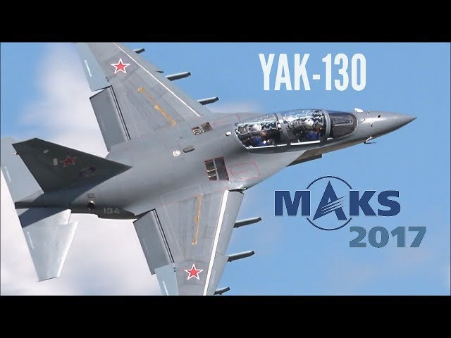 MAKS 2017 - Amazing flight display by YAK-130 - HD 50fps
