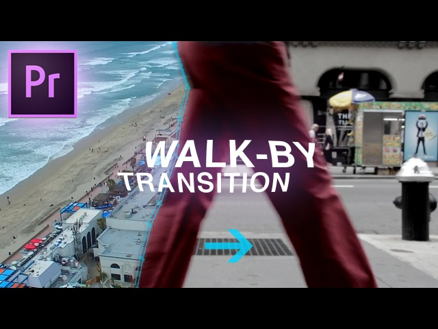 Slick Walk By Transition Effect - Adobe Premiere Pro CC Tutorial (Custom Wipe Reveal with Masking)