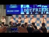 Фанкам09.06.17 Boyfriend на релиз-мероприятии, посвященном выпуску мини-альбома