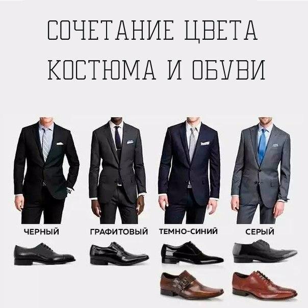 Сочетание цвета обуви с цветом костюма