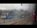 Трамвай Санкт-Петербурга ЛВС-86К б.7020 по маршруту №10 ч.1 19.07.2017