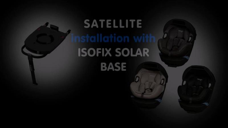 Installation of the MIGO SATELLITE infant seat with ISOFIX b