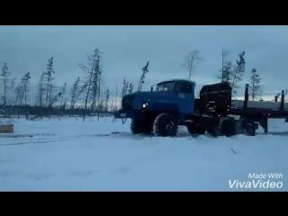 Покатушка на работе. Урал-43202