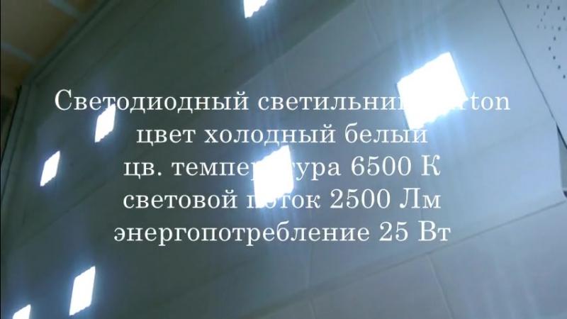 Профессионал43 Замена старых светильников на новые светодиодные Varton. г.Киров Деповская улица, 90А