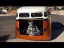 VW Bus Burnout, Volkswagen T1 Bully with Turbo Engine, Barn Door Short Bus