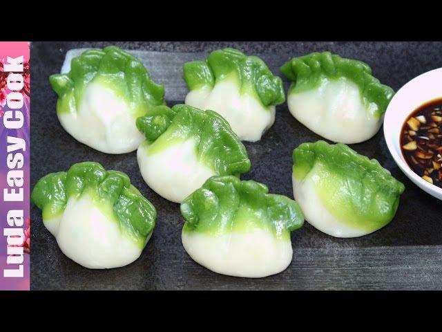 Вкусные ЦВЕТНЫЕ ПЕЛЬМЕНИ рецепт Китайские ПЕЛЬМЕНИ на пару - Spinach Green Dumpling làm Bánh h » Freewka.com - Смотреть онлайн в хорощем качестве