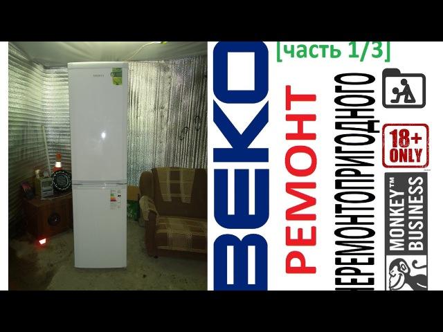 Ремонт холодильника BEKO CSK35000. Утечка в запенке.