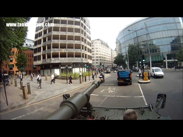 Driving A Tank Through City Of London - Video 2 June 2013 Must See!!