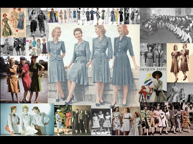 История моды XX века. 1940-е. Женская мода.