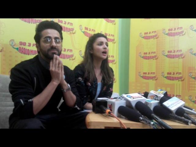 Parineeti Chopra Ayushmann Khurrana Full Speech   Meri Pyaari Bindu Promotions At Radio Mirchi
