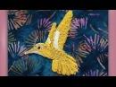 How to embroider a goldwork hummingbird