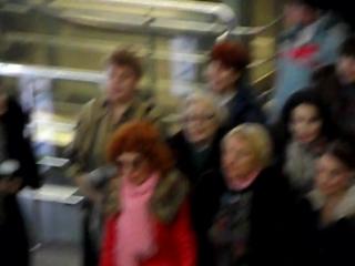 Флеш моб на Ленинградском вокзале.