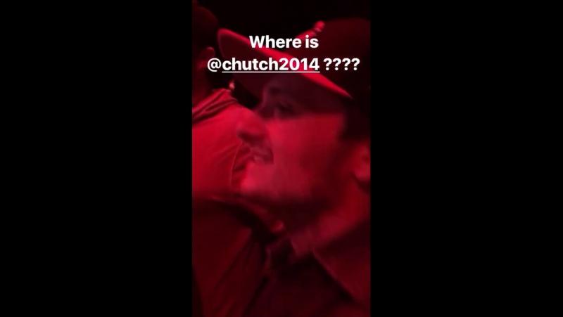 Josh Hutcherson and his entourage at a club in Las Vegas via Jeremiah Samuel's Instagram story