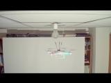 Замена лампочки при помощи квадрокоптера (полное видео)