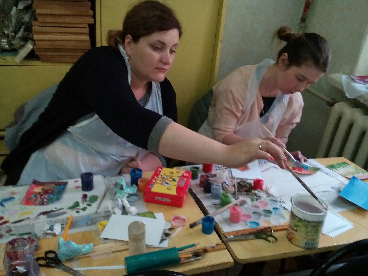 В клубе инвалидов «Вера» состоялся мастер класс по правополушарному рисованию