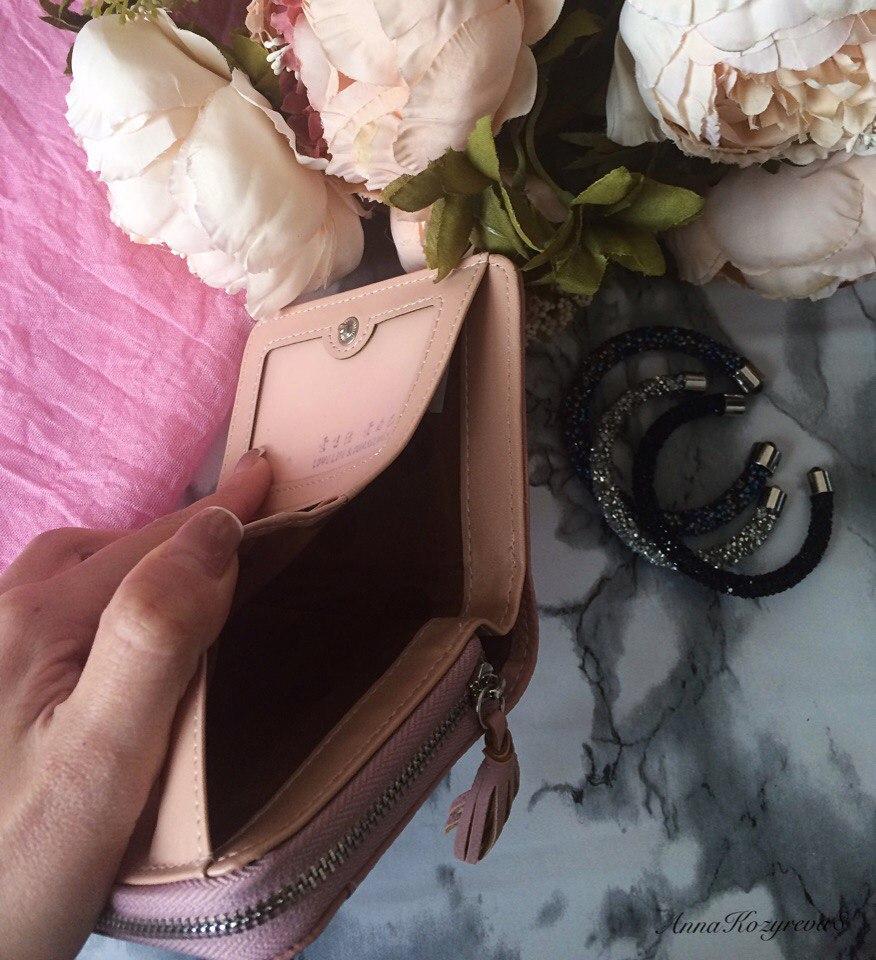 Отличный небольшой кошелк зефирно-розового цвета