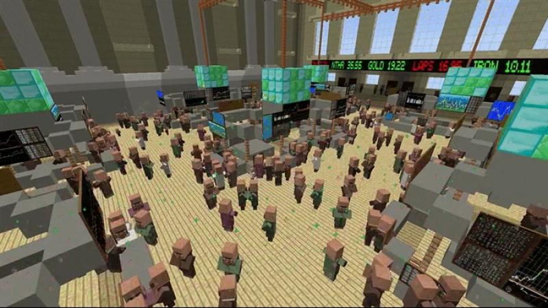 Нью-Йоркская торговая биржа, а вместо брокеров на ней тусуются жители!