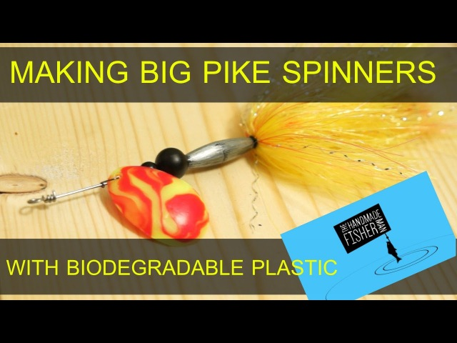 Making Big Pike Spinning lures with biodegradable plastic blades
