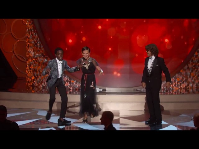 Behind the Scenes at the Emmys – Stranger Things Kids Perform Uptown Funk HD