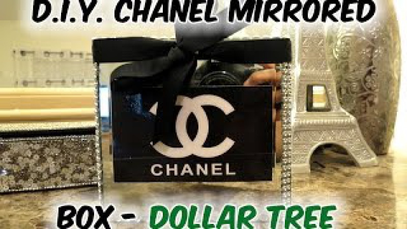 D.I.Y. Chanel Inspired Mirrored Box- Dollar Tree