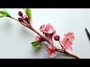 DIY How to make Cherry blossom flower by crepe paper Làm hoa anh đào giấy nhún