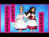 How to make a Doll Dress for Oktoberfest Tutorial DIY