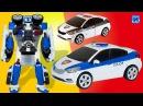 Тоботы трансформеры Тобот С полицейская машинка трансформируется в робота. Рас...