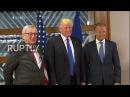 Бельгия Трамп встречается с руководителями ЕС Туск и Юнкер в Брюсселе.