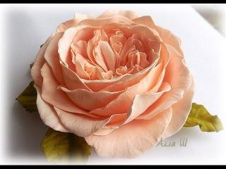 МК Піоновидна троянда із фоамірану. Пионовидная роза из фоамирана.