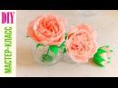Английская РОЗА ИЗ БУМАГИ Crepe paper ROSE DIY NataliDoma