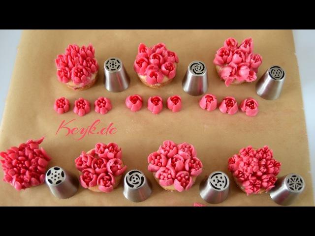 Russische Spritztüllen - Russian Nozzles - Tulpen Tüllen
