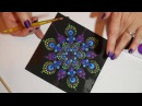 How to paint dot mandalas with Kristin Uhrig 6- Peacock design