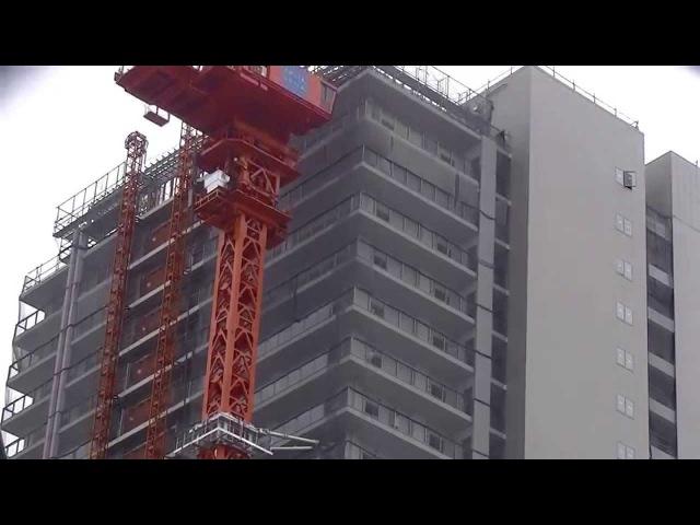 タワークレーン解体&逆クライミング(アトラスタワー曳舟工事現場)