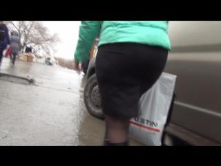 SEXy Lady in Mini ubke !!! BIG ASS !!! Сексуальная Леди в короткой юбке с Большой попой !!! Part Three