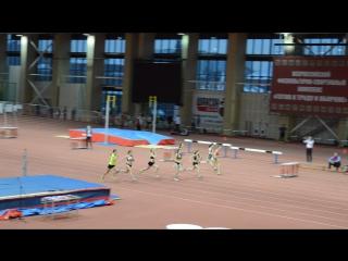 Финал бега на 60 метров среди девушек 2000-2001 г.р. в Тюмени на матчевой встрече Сибири и Урала 3.12.2016 г