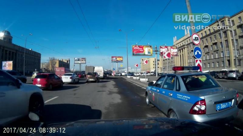 Как я наехал на инспектора (часть 1) | ДТП авария