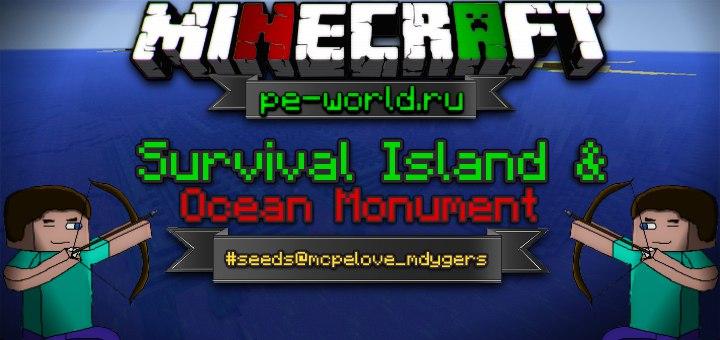 Превью для «Survival Island & Ocean Monument | Minecraft Pocket Edition 0.16.0-0.17.0»