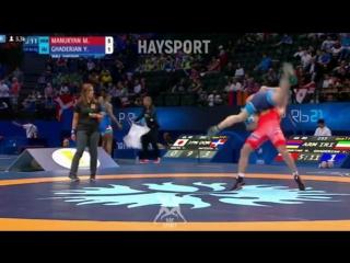 Qualif.GR - 80kg: 🇦🇲 Maksim Manukyan def. Yousef Ahmad Ghaderian 🇮🇷 10-1 The 2017 World Wrestling Championships