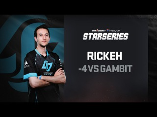 -4 by Rickeh vs Gambit, SL i-League StarSeries Season 3 Finals Highlight, Fourth round