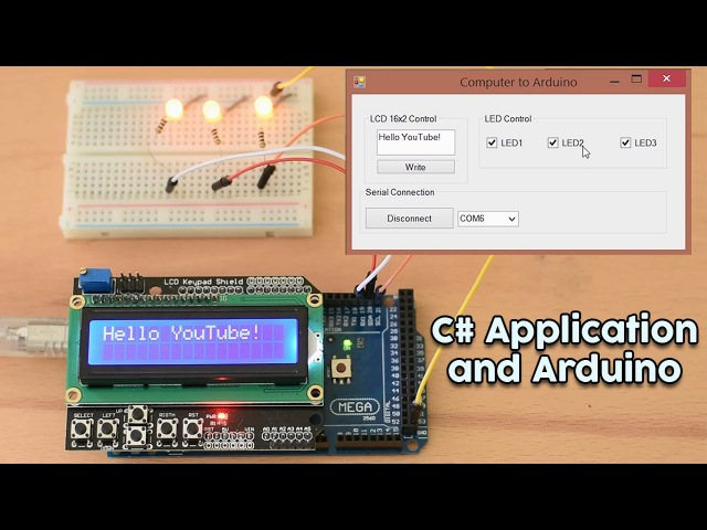 Arduino Tutorial C to Arduino Communication. Send data and commands from Computer to an Arduino.
