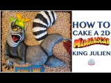 HOW TO CAKE A 2D MADAGASCAR KING JULIEN  Abbyliciousz The Cake Boutique