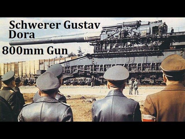 Original 800mm Schwerer Gustav Dora Railway Gun firing Sewastopol 1942 Worlds biggest gun ever