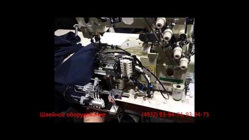 Плоскошовная швейная машина п/автомат для ровной подгибки низа
