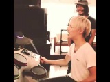Hiro [MY FIRST STORY] playing on drums