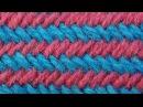 Уроки вязания спицами Узор Рыбья кость по кругу 26