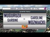 Garbine Muguruza VS Caroline Wozniacki QUARTER FINAL Miami Open 2017