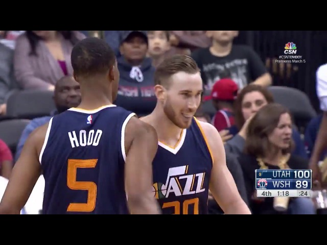 Gordon Hayward's 30 Points and 9 Rebounds Propel Jazz to Victory over Wizards | 02.26.17 NBANews NBA